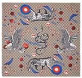 Gucci Space Animals print silk scarf