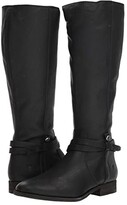 Frye Melissa Belted Tall (Black Washed Oiled Vintage) Women's Boots