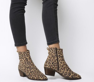 Office Amarillo High Cut Boots Leopard Suede