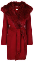 P.A.R.O.S.H. Lovery coat - women - Fox Fur/Polyester/Wool - XS