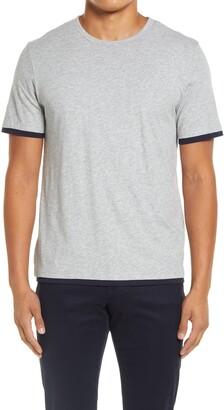 Vince Slim Fit Double Layer Crewneck T-Shirt