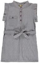 Nui Heidi Chambray Striped Organic Cotton Dress