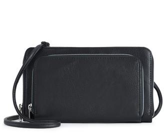 Apt. 9 Double Zip Around Crossbody Wallet