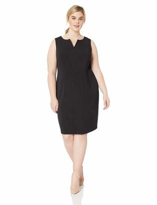 Calvin Klein Women's Size Sleeveless Seamed Sheath Dress