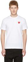 Comme des Garcons White Heart Patch T-Shirt