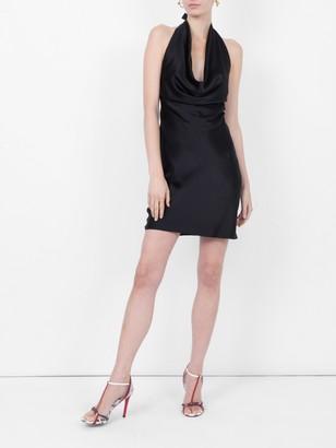 Stella McCartney Linda Halter Mini Dress Black
