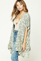 Forever 21 FOREVER 21+ Abstract Print Draped Kimono