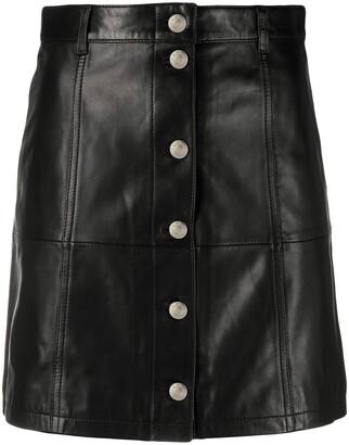 IRO Textured Multi-Buttoned Skirt