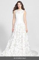 Women's Jesus Peiro 'Duna' Jacquard Organza Drop Waist Dress