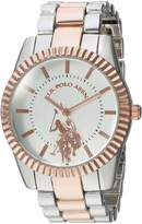 U.S. Polo Assn. Women's Quartz Metal and Alloy Casual Watch, Color:Two Tone (Model: USC40263)