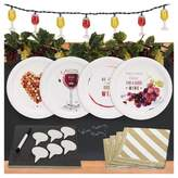 BuySeasons 32ct Wine Party Appetizer Pack with Chalkboard Runner Cheese Board & Décor