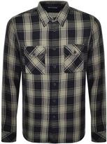 Nudie Jeans Sten Block Check Shirt Green