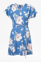 French Connection Cari Crepe Floral Wrap Dress