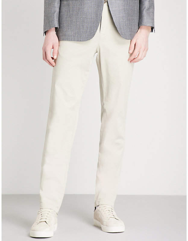 Canali Regular-fit cotton-blend chinos