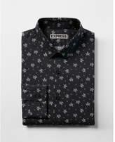 Express extra slim floral print dress shirt