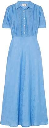 Paul & Joe Lace-trimmed Satin-jacquard Midi Dress