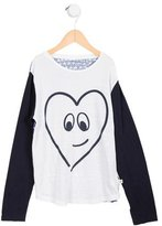 Stella McCartney Girls' Heart Print Long Sleeve Top