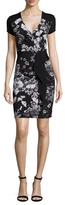 BCBGMAXAZRIA Laudy Printed Ruffle Wrap Dress