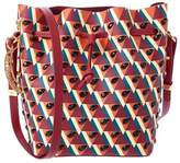 Sophie Hulme Small Watermelon Crystal Embellished Leather Bucket Bag.