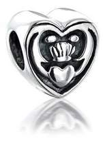 Bling Jewelry Celtic Friendship Claddagh Bead 925 Sterling Silver Pandora Compatible Charms