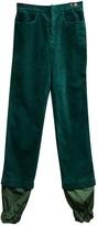 J.W.Anderson Green Velvet Trousers for Women