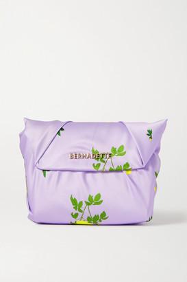 BERNADETTE Belinda Knotted Floral-print Satin Clutch - Lilac