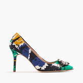 J.Crew Collection Elsie jeweled pumps in abstract print