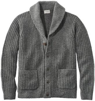 L.L. Bean Men's L.L.Bean Classic Ragg Wool Sweaters, Cardigan