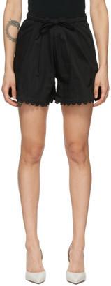 Kika Vargas Black Scalloped Elsie Shorts