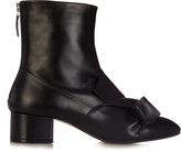 No.21 NO. 21 Bow leather ankle boots