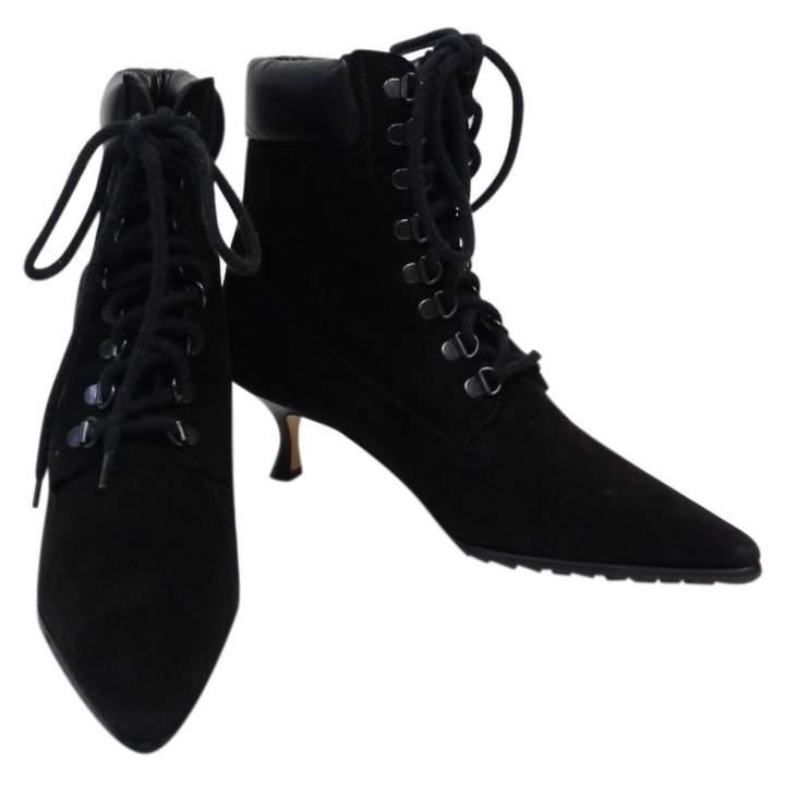 Manolo Blahnik Lace up boots