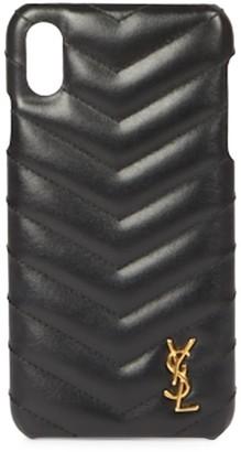 Saint Laurent Matelasse Leather iPhone XS Case