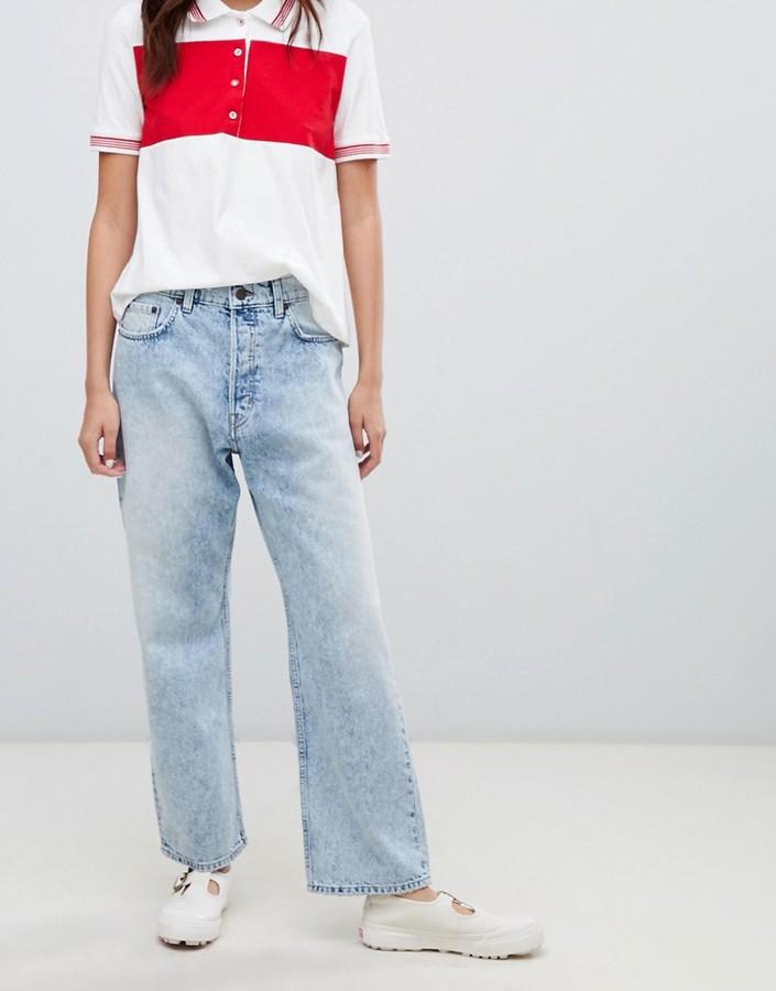 Cheap Monday straight leg jean in stonewash rigid denim