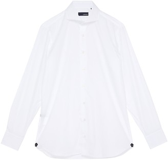Lardini Spread collar placket shirt