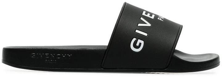 Givenchy paris logo rubber slides