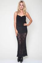 Goddis Tati Knit Maxi Skirt In Asphalt