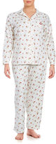 Lauren Ralph Lauren Plus Classic Print Top and Pants Pajama Set