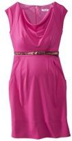 Liz Lange for Target® Maternity Short-Sleeve Belted Ponte Dress - Cherry Red