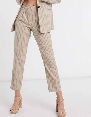 Vila suit trousers in stripe