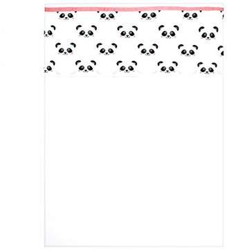 Camilla And Marc Panda Dreams 1 Sheet for Pram or Cot, 75 x 100 cm Pink