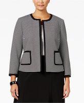 Nine West Plus Size Knit-Jacquard Open-Front Jacket
