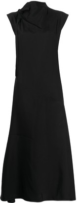 Jil Sander Tie-Neck Midi Dress