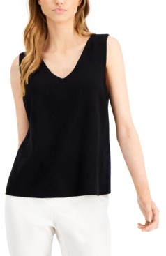 Alfani V-Neck Sleeveless Top, Created for Macy's