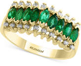Effy Brasilica by Emerald (7/8 ct. t.w.) and Diamond (1/5 ct. t.w.) Ring in 14k Gold