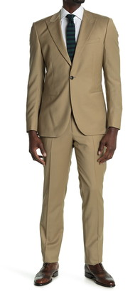 Reiss Barolo Gaberdine Single Button Wool 2-Piece Suit
