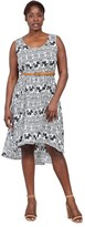 M&Co Izabel Curve elephant print midi dress