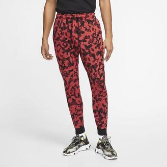 Nike Men's Printed Joggers Sportswear Tech Fleece
