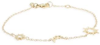 Anzie Celestial White Topaz & 14K Yellow Gold Bracelet