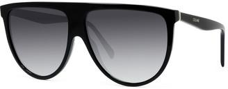 Celine Men's Flattop Gradient Shield Sunglasses