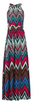 Dorothy Perkins Womens Jolie Moi Multi Colour Wave Printed Maxi Dress